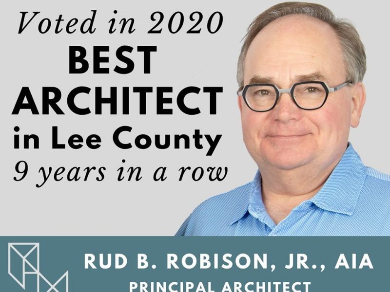 Rud B. Robison, Jr., named Best Architect in Lee County 2020