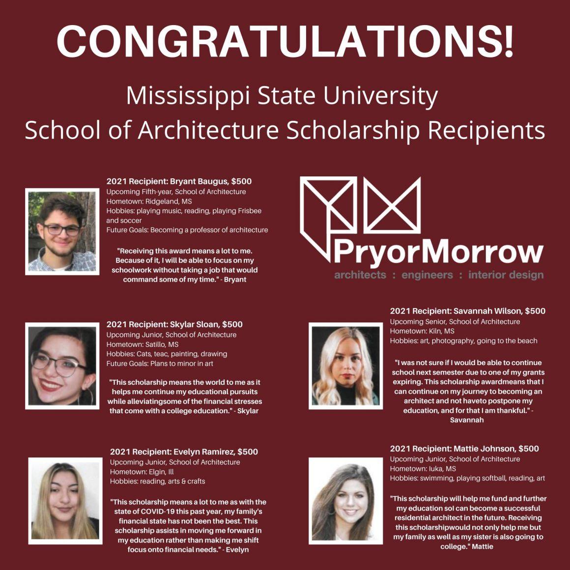 MSU Scholarship Recipients Announced
