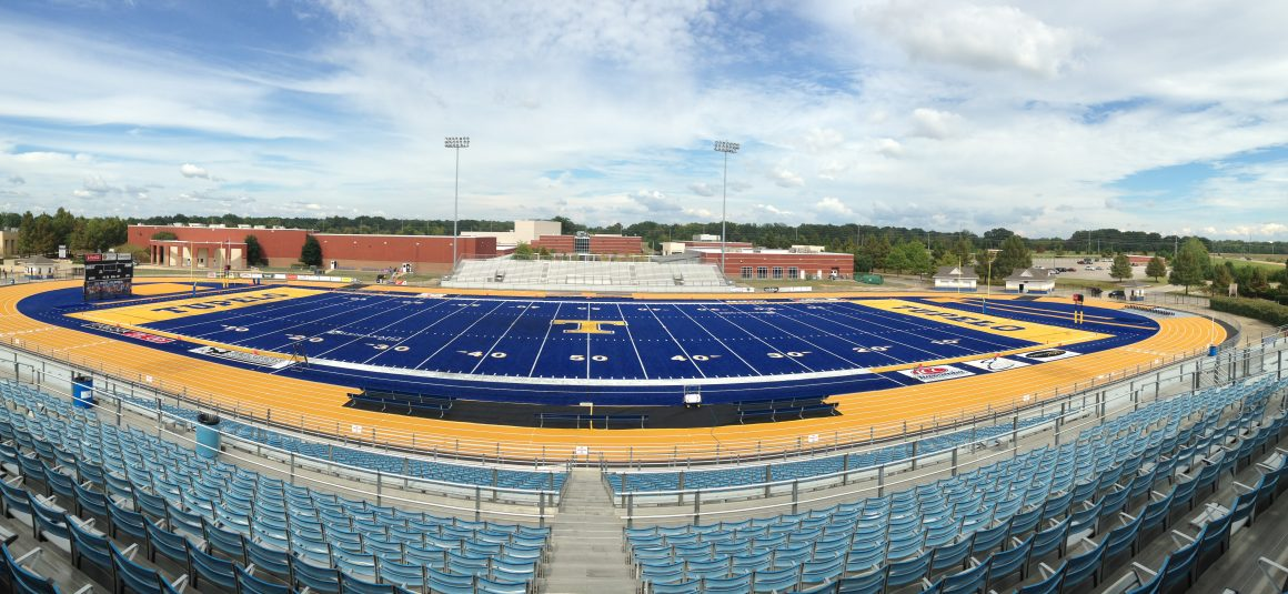 Tupelo High School Football Turf Field and Track