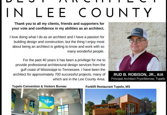 Rud B. Robison, Jr., AIA, named Best Architect in Lee County 10 years in a row