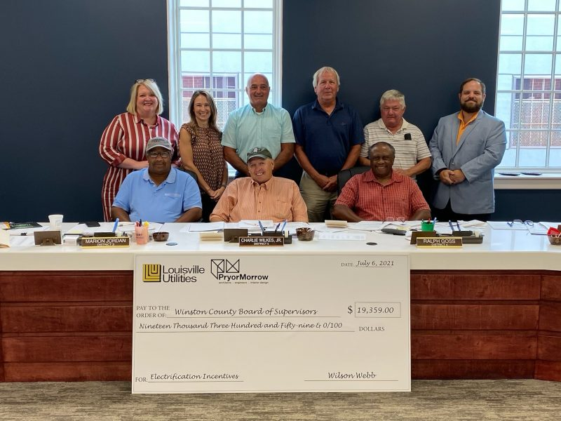 Winston County Presented with TVA Incentive Check